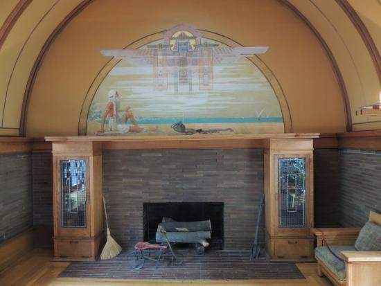 Fireplace in playroom - Picture of Frank Lloyd Wright Home and ... on forest home designs, stylish eve home designs, popular home designs, two story home designs, southwest home designs, stone home designs, green city designs, hillside home designs, unusual home designs, florida home designs, 4 square house plans and designs, model home designs, coastal home designs, new england home designs, nigerian home designs, 2015 home designs, dakota prairie designs, small home designs, affordable home designs, wood home designs,