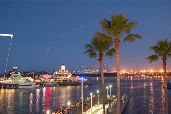 Renaissance Long Beach Hotel View At Night