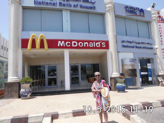 McDonald's Naama Bay: me outside macdonalds naama bay sharm el sheikh
