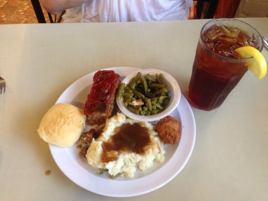 Sisters Restaurant Home Cooked Ol Fashioned Plain Good Meatloaf Mashed Potatoes To