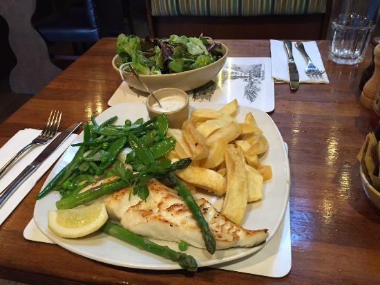 The Codfather: Grilled Medium Cod and Chips with excellent Tartare Sauce
