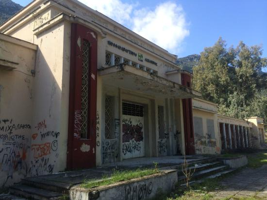 Kamena Vourla, Grecia: old closed building of hydrotherapy