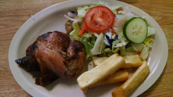 Mami Nora's: Quarter Dark with side salad and yucca fries... perfect!