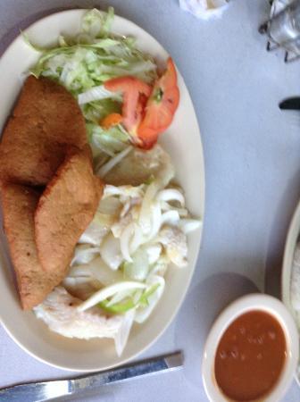El Racar Seafood Restaurant: Fish fillet with Coconut dumplings