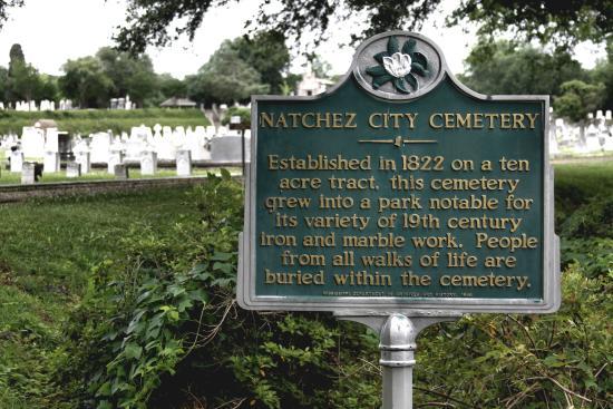 Natchez City Cemetery historical marker