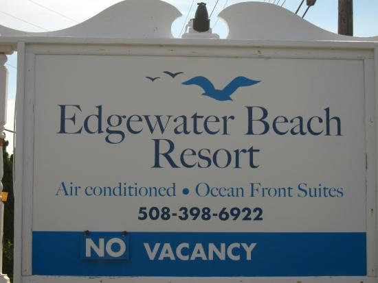 Edgewater Beach Resort: Sign at front of building