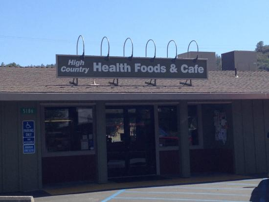 High Country Health Foods & Cafe: The front of the store.