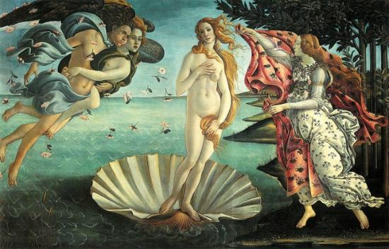 BIRTH OF VENUS BY BOTTICELLI IN UFFIZI (136181544)
