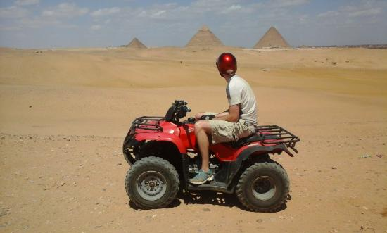 ‪Quad Bike At Giza Pyramids‬