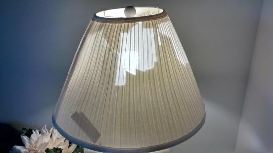 Cove of Lake Geneva: Lamp shade in living room