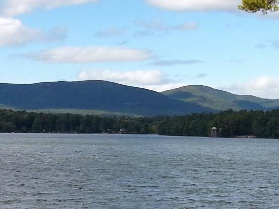 Salisbury, CT : View of the ridge-line looking northwest from Twin Lakes