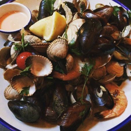 Cafe Panache: Seafood platter at Café Panache