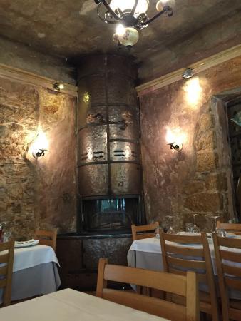 Drosia, Greece: Fireplace inside