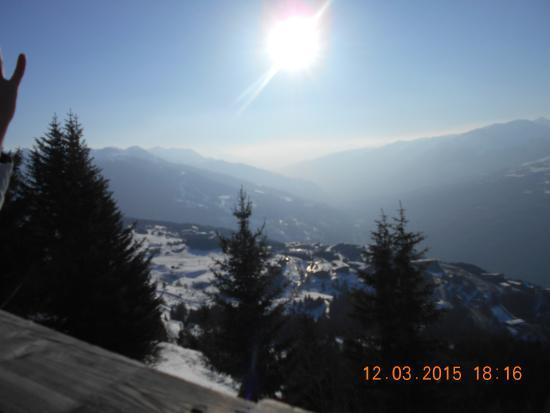 Chalet D'altitude De L'Arpette : la vue de la terrasse