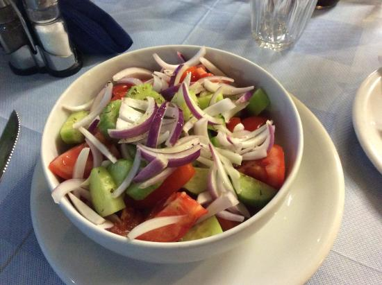 Tomato and cucumber starter ( I asked for onion as extra! )