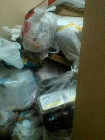 Extended Stay America - Indianapolis - Northwest - I-465: trash full for 2 days