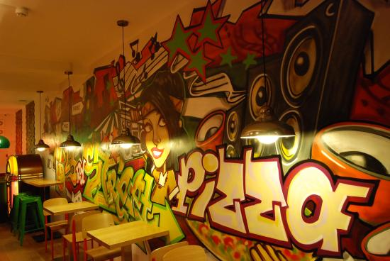 Graffiti Picture Of 23rd Street Pizza Grill Manchester