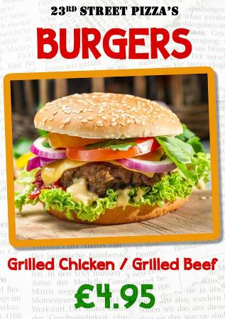 Burgers Picture Of 23rd Street Pizza Grill Manchester