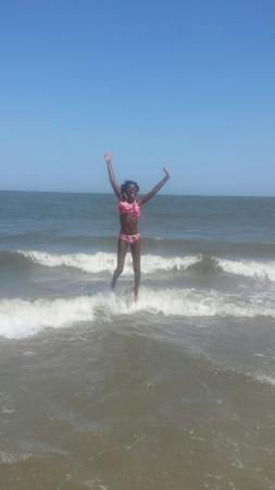 Hunting Island State Park: A happy preteen