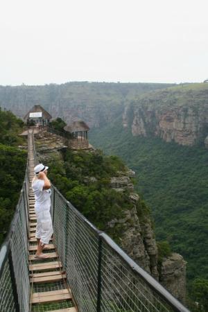 Oribi Gorge Nature Reserve: подвесной мост