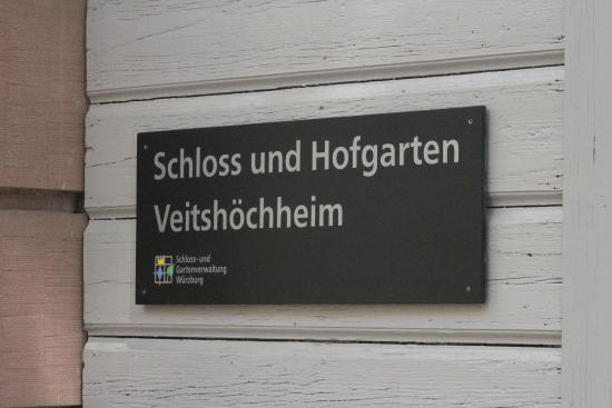Hofgarten Veitshochheim : Da geht's hinein
