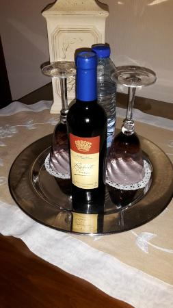 B & B in Limoux at Domaine St George: welcome tray!