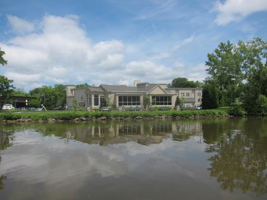 View of the Erie Grill from the Erie Canal