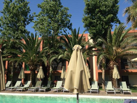 Minos Mare Hotel : View of pool view rooms