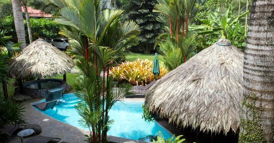 Hotel Banana Azul: Balcony view overlooking the pool and gardens