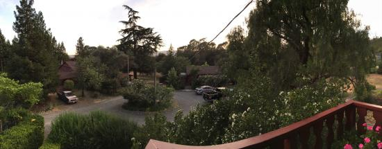 Sonoma Chalet: View from our balcony at dusk