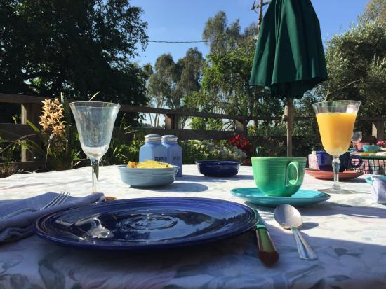 Sonoma Chalet: Breakfast with a view