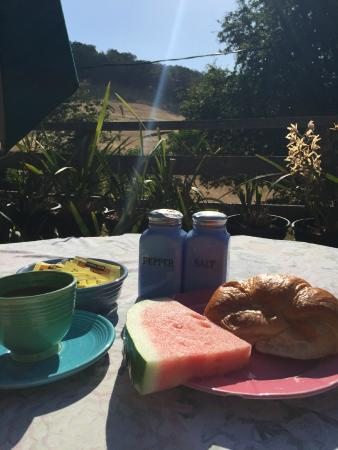 Sonoma Chalet: Breakfast!