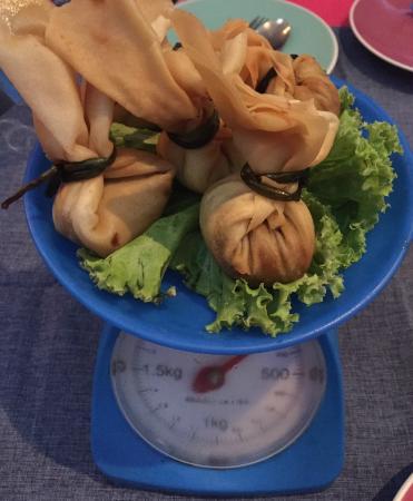 Cafe 69's famous crispy chicken dumplings