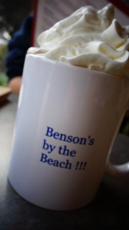 Benson's By The Beach: my daughter loved the hot cocoa
