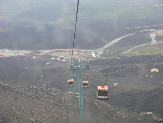 View From Cable Car Picture Of Monte Etna Catania Tripadvisor