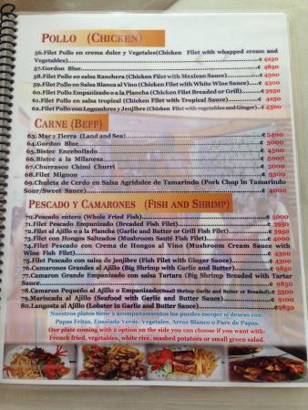 Carolina's menu.. You're welcome ;)