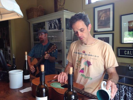 von Strasser and Lava Vine Winery : Two amazing guys, Jon and Pete. Played some newly weds a song on their guitars! Beautiful!