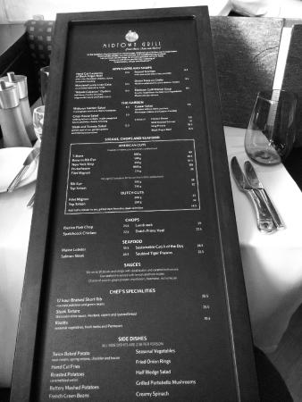 Midtown Grill: 27 inch menu