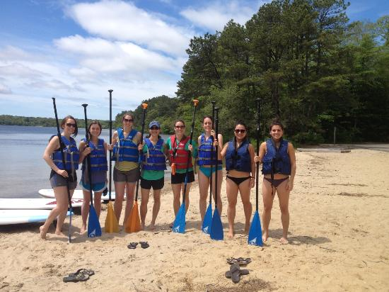 Stand Up & Paddle Cape Cod: Our group ready to hit the water!