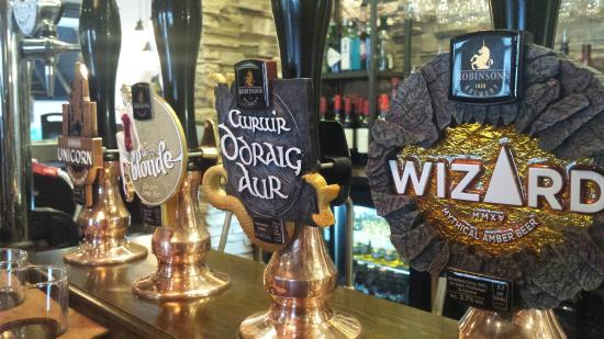 Uppermill, UK: A selection of real ales