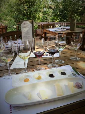 Matanzas Creek Winery : Wine tasting with cheese