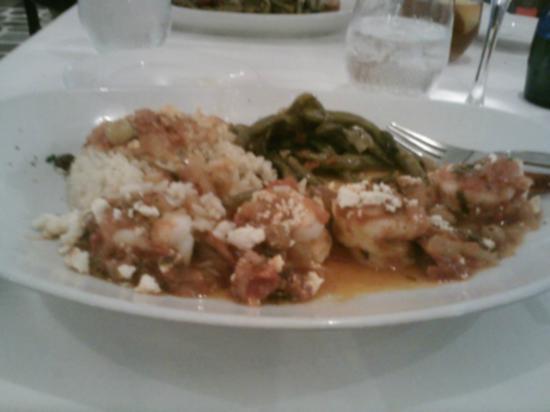 Mykonos Grill: sautéed shrimp with feta