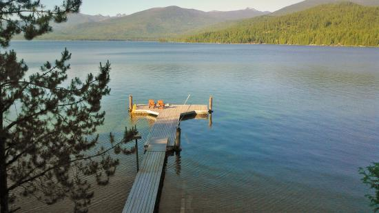 Priest Lake, ID: The dock with a view fit for royalty