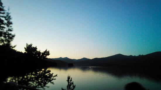 Priest Lake, ID: The twilight view from the second story deck