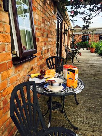 The Barn B&B: You can also eat breakfast at the terrace