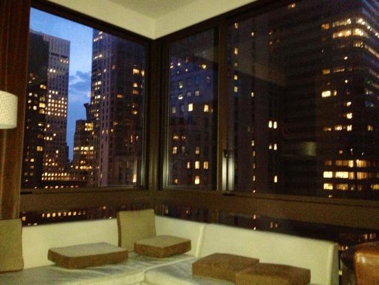 utsikt fra soverommet picture of wyndham midtown 45 new. Black Bedroom Furniture Sets. Home Design Ideas
