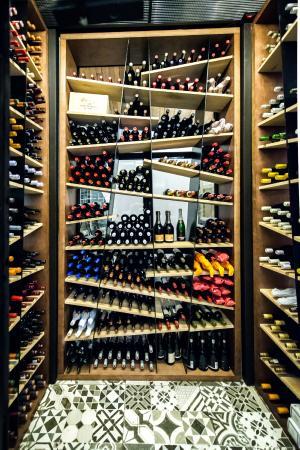 Open Door Restaurant Temperature Controlled Wine Cellar