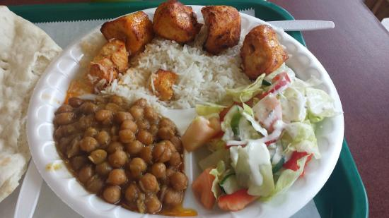 Al-Zaytoun Kabob and Grill: Chicken Kabob platter