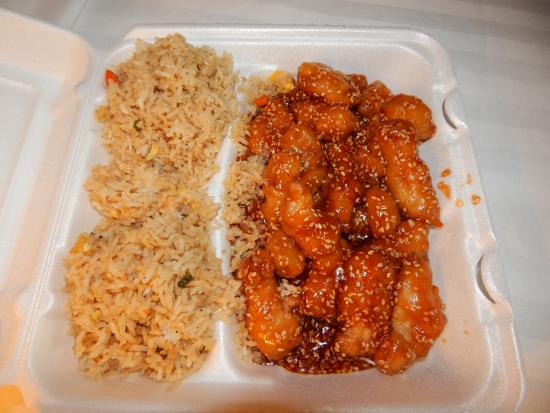 sesame chicken - Picture of Golden Palace Chinese ...