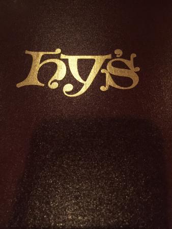 Hy's Steak House - Waikiki: Hy's Steak House Menu